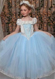 Girl Princess Dresses Children Costumes Fancy Ball Gown Party DressUp Girls  Clothes Easter 25a5303f10af
