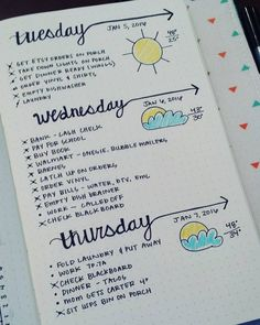 Plan and organize your entire day or week with these easy and creative bullet journal ideas. Use these bullet journal hacks as inspiration for your bujo! Planner Bullet Journal, Bullet Journal Inspo, My Journal, Journal Pages, Daily Journal, Bullet Journal Homework, Bullet Journal How To Start A Layout, Bullet Journal Layout Ideas, Bullet Journal Weekly Spread Layout