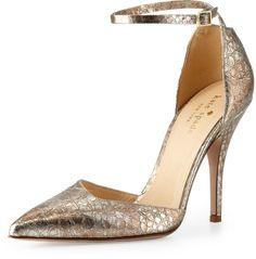 Kate Spade New York Liliana Metallic Snake-Print Pump #fashion #style #shopping