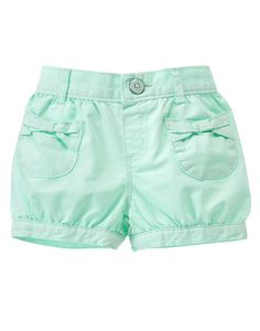 Bow Pocket Bubble Shorts at Gymboree