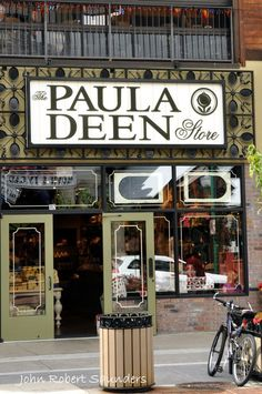 Paula Deen Store in Gatlinburg features cookware, cookbooks, spices, chocolate, t-shirts, hats, and more.