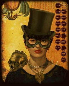 Frida Kahlo Quote Steampunk Print Photomontage by ARTDECADENCE
