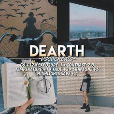 Vsco filter - Dearth