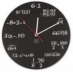 How to tell time... or calculate it anyway. Cute for upper school math class!