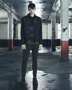 AllSaints unveiled its Fall/Winter 2014 collection during Mercedes-Benz Fashion Week New York. Men's Fashion, Fashion Images, Runway Fashion, Fashion Tips, Fashion Design, Fall Winter 2014, Autumn Winter Fashion, Fall 14, Mens Fall