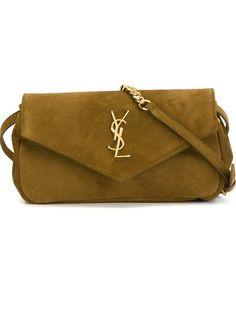 SAINT LAURENT 'Monogram' Crossbody Bag. #saintlaurent #bags #shoulder bags #crossbody #suede