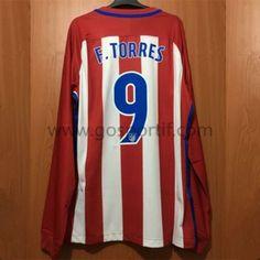 maillot de foot La Liga Atletico Madrid 2016-17 Fernando Torres 9 maillot domicile manche longue