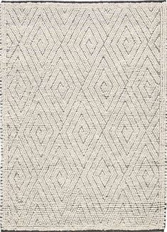 Crafted from undyed New Zealand wool--chosen for its superior strength, softness and natural color, and then felted for cozy texture--this ultra-plush, hand-woven rug in heathery shades of turtle dove and aluminum is folk art for the floor.