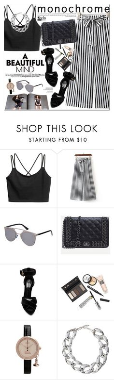 """""""Monochrome"""" by oshint ❤ liked on Polyvore featuring Alexander McQueen, Borghese, Vivienne Westwood, Kenneth Jay Lane, awesome, monochrome, blackandwhite, Sheinside and shein"""