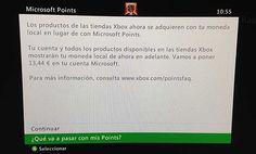 ¡Actualidad! Adiós a los Microsoft Points en Xbox 360. Desde Microsoft ya había avisado de que esto iba a suceder, pues desde hace algunos días comenzó a aplicarse la nueva actualización para Xbox 360 la cual realizaba el cambio de los Microsoft Points a la moneda local de cada país. #MicrosoftPoints #Xbox360