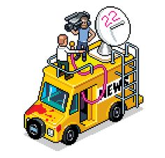 eboy zoomed pixel news van from 8bitdecals