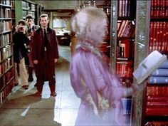 Ghostbusters: Venkman: [To the city library ghost] Hello, I'm Peter. - a favorite movie library scene :-) Die Geisterjäger, Ghostbusters Ghost, Celebrities Reading, Ghost Busters, New York Public Library, City Library, Library Ideas, Horror Movies, Good Movies