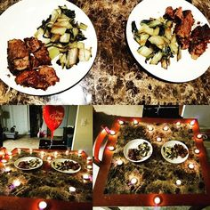Happy Valentine's Day! Tried to spoil my man with 8 hour slow cooked chuck roast with my own homemade guajillo pepper and garlic sauce along with bok choy. Hope everyone was spoiled with love today! 👫❤ It's important to learn to have self love because it makes it easier to give love to friends, family, and soulmates #guajillo #guajillosauce #ilovecooking #candlelightdinner #bokchoy #amor #happyvalentinesday #slowcookermeals #dinnerfortwo #love #glutenfree