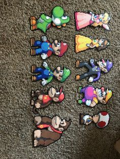 Mario party perler beads