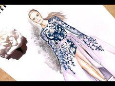 Fashion Illustration - Ralph & Russo haute couture fall 2016 #2 | Nina Mid Illustrations - YouTube