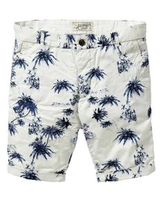 Chino-Shorts mit Hawaii-Print | Denim-Shorts | Herrenbekleidung von Scotch & Soda