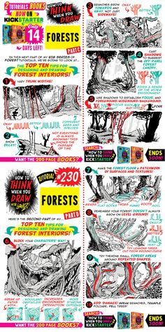 35 Ideas Tree Illustration Design Drawings Forests For 2019 Drawing Lessons, Drawing Techniques, Drawing Tips, Drawing Reference, Tutorial Draw, Comic Tutorial, Digital Painting Tutorials, Art Tutorials, Drawing Tutorials