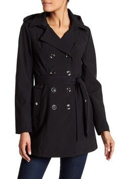 Short Hooded Trench Coat