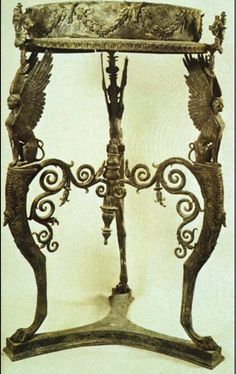 (CH4) Furniture With Animal For Legs Was Popular In Ancient Greek Design.  Http