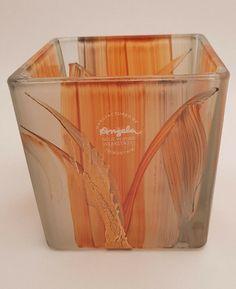 Teelicht Würfel Color Orange-Handarbeit mit Zertifikat- NeueWienerWerkstätten- Canning, Orange, Certificate, Handarbeit, Corning Glass, Home Canning, Conservation