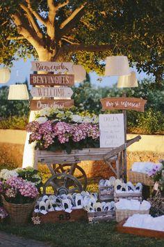 Rustic Garden Dancing Shoes Display | Deer Pearl Flowers