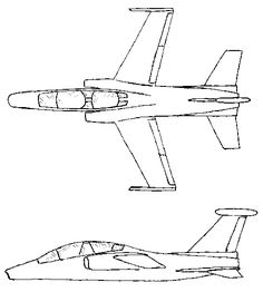 The Saab 38 (also known as B3LA or A 38/Sk 38) was a single-engine jet trainer and attack aircraft planned by Saab during the 1970s. The project was a collaboration between Saab and the Italian aircraft manufacturer Aermacchi.[citation needed] It was to replace the older Saab 105 jet trainer in the Swedish Air Force, but the aircraft never got past the drawing board and was canceled in 1979 in favour of the more advanced Saab JAS 39 Gripen fighter.