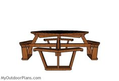 Octagonal picnic table plans free