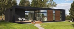 from ONV-huset: Fritidshuse Container Homes Cost, Container Architecture, Tiny Cabins, Forest House, Modular Homes, Little Houses, Wooden House, My Dream Home, Modern Architecture