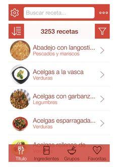 ¿Qué cocino hoy? (App control dieta)