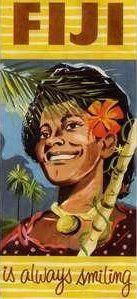 ifiji is always smiling travel brochure. Fiji People, Travel Brochure, Map Design, Discount Travel, South Pacific, Vintage Travel Posters, Luau, Black Art, Art Gallery
