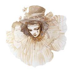 Carnaval de Venise Théophile Gautier son poème DE TOUT EN VRAC ❤ liked on Polyvore featuring backgrounds, masks, people, circus, art and fillers