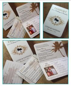 From Me 2 You Creations, LLC: Chu Wedding Passport Invitations We can change the theme!!