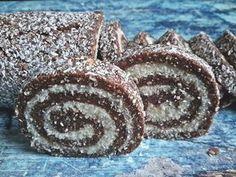 Örök kedvenc kókusztekercs Hungarian Recipes, Egg Free, Cake Cookies, Sweet Recipes, Biscuits, Food And Drink, Favorite Recipes, Sweets, Baking