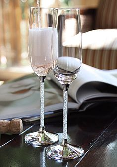 I have waitied 4 1/2 years to finally use my Swarovski Crystal Champagne Flutes! I can't wait until October.