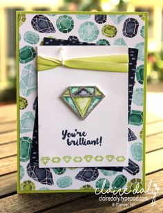 Stampin Up You're brilliant stamp set from 2017 Annual Catalogue. Naturally Eclectic Designer Series Paper. Card by Claire Daly, Stampin Up Demonstrator Melbourne Australia.