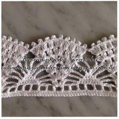 Crochet lace edgings: cluster, shell & spider ~~ OFICINA DO BARRADO: Croche - BARRADINHOS versáteis ...