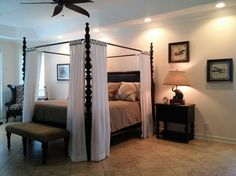 Bedroom interior design by Chi Nguyen & Kristian McKeever, Baer's Furniture Melbourne, FL
