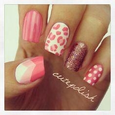 Cute pink nail art