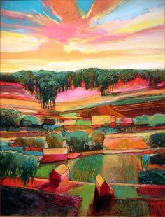 "Contemporary Painting - """"My Neighbor's House #824"""" (Original Art from MARK GOULD FINE ART)"