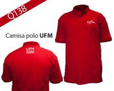 Camisa polo UFM | Encuéntralos en Ágora, Librería Marroking, Amigos de la Biblioteca y Atención al Estudiante