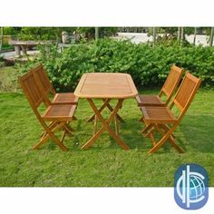 Shop for International Caravan Royal Tahiti Melilla 5-Piece Folding Outdoor Dining Set. Get free delivery at Overstock.com - Your Online Garden