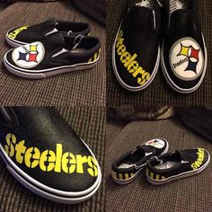 quality design d764f 5d3be Cool item  Handpainted Steelers Shoes Cool Items, Things To Sell