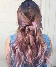 Trendy Rose Gold Hair Color Ideas