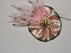 Beautiful heavy duty bobby pin with a fleur de lis by MoMofStrick2, $3.99
