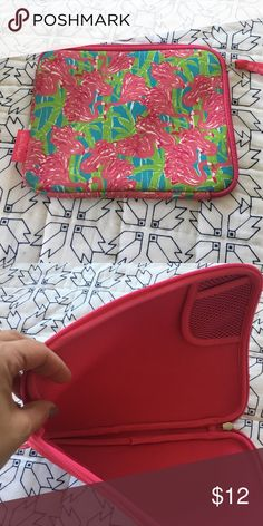 Tablet case Lilly Pulitzer iPad case. Great condition Lilly Pulitzer Accessories Tablet Cases
