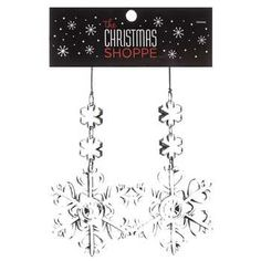 Clear Acrylic Snowflake Dangle Ornaments