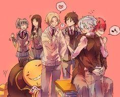 WTH. Karma, what are you doing to Nagisa?! You perv Σ(゚д゚lll)- DA | Some of Class 3-E | Assassination Classroom
