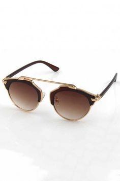 27d4351ff44e4 LUCLUC Gold Rim Burgundy Lenses Sunglasses - LUCLUC