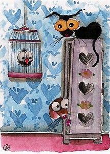 Hide and Seek... Look up Mousie... Stressie Cat is behind you... Enjoy!