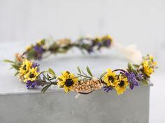 Baby Flower Crown, Flower Crown Wedding, Bridal Flowers, Floral Crown, Flower Crowns, Floral Wedding Hair, Daisy Wedding, Floral Hair, Sunflower Flower